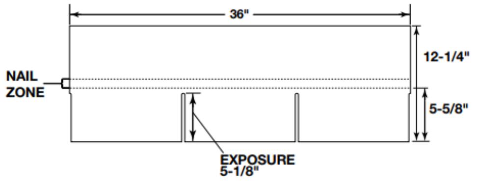 Dimensi Atap Tamko Elite Glassseal